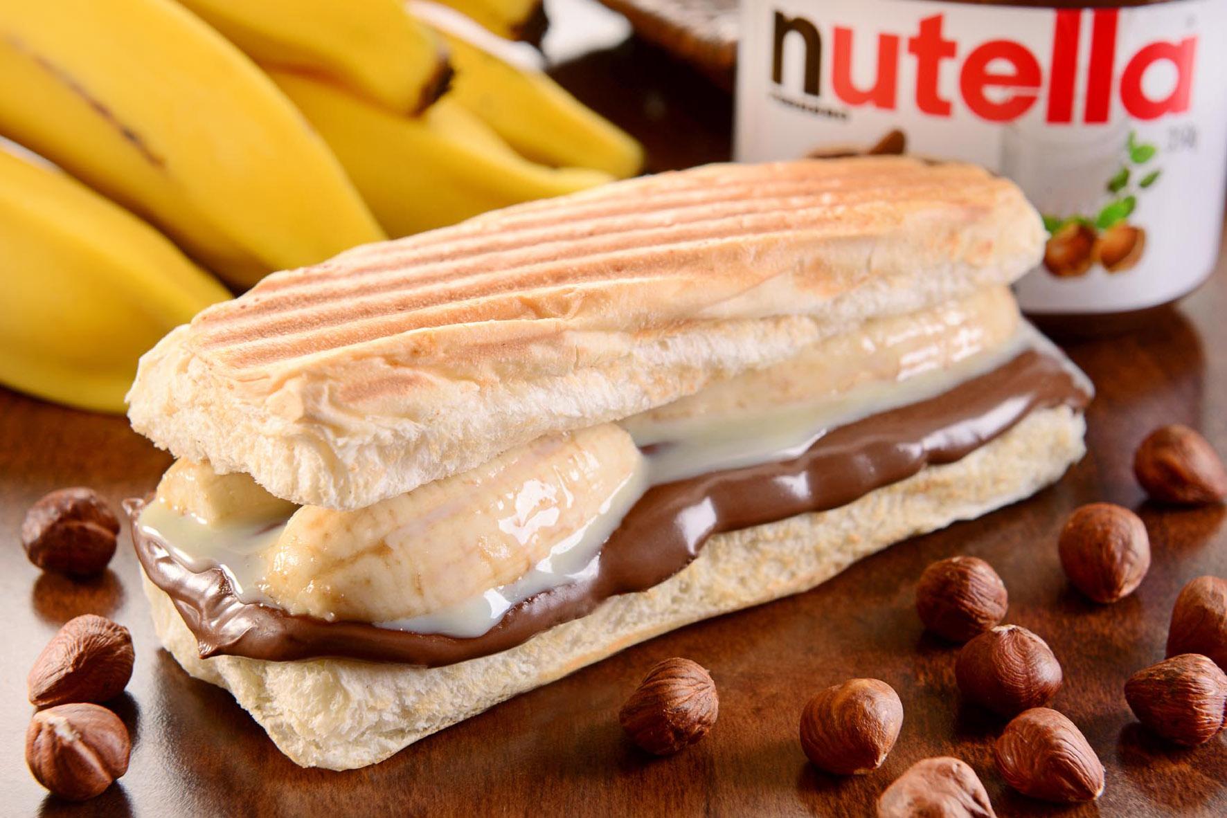 Prensado banana, nutella e eleite condensado - Au-Au Lanches
