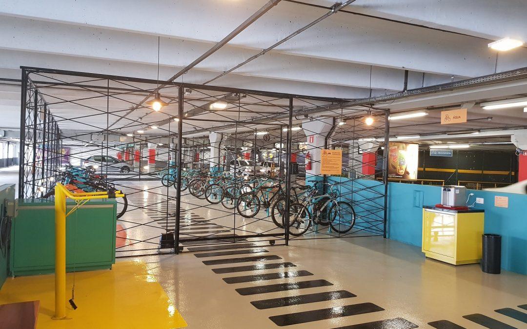 Maior bicicletário dentro de um shopping é inaugurado em Curitiba