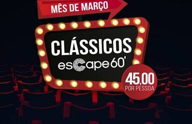 Clássicos do Escape 60 ganham descontos durante todo o mês de março