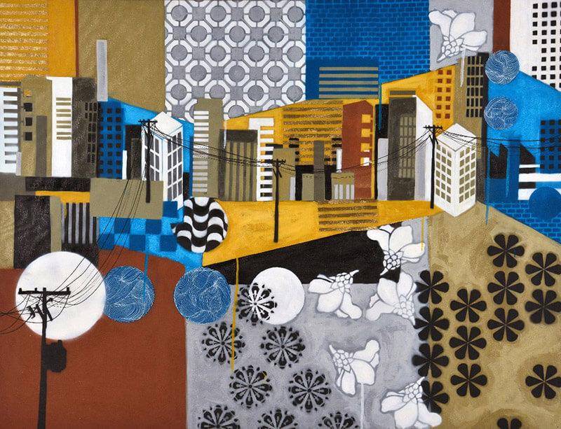 Artista plástica paranaense expõe obras inspiradas em canções de Fernanda Takai