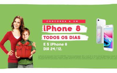 Shoppings Estação e Curitiba sorteiam um Iphone 8 por dia