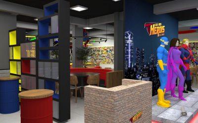 Pizzaria com temática inspirada em super heróis inaugura em Curitiba