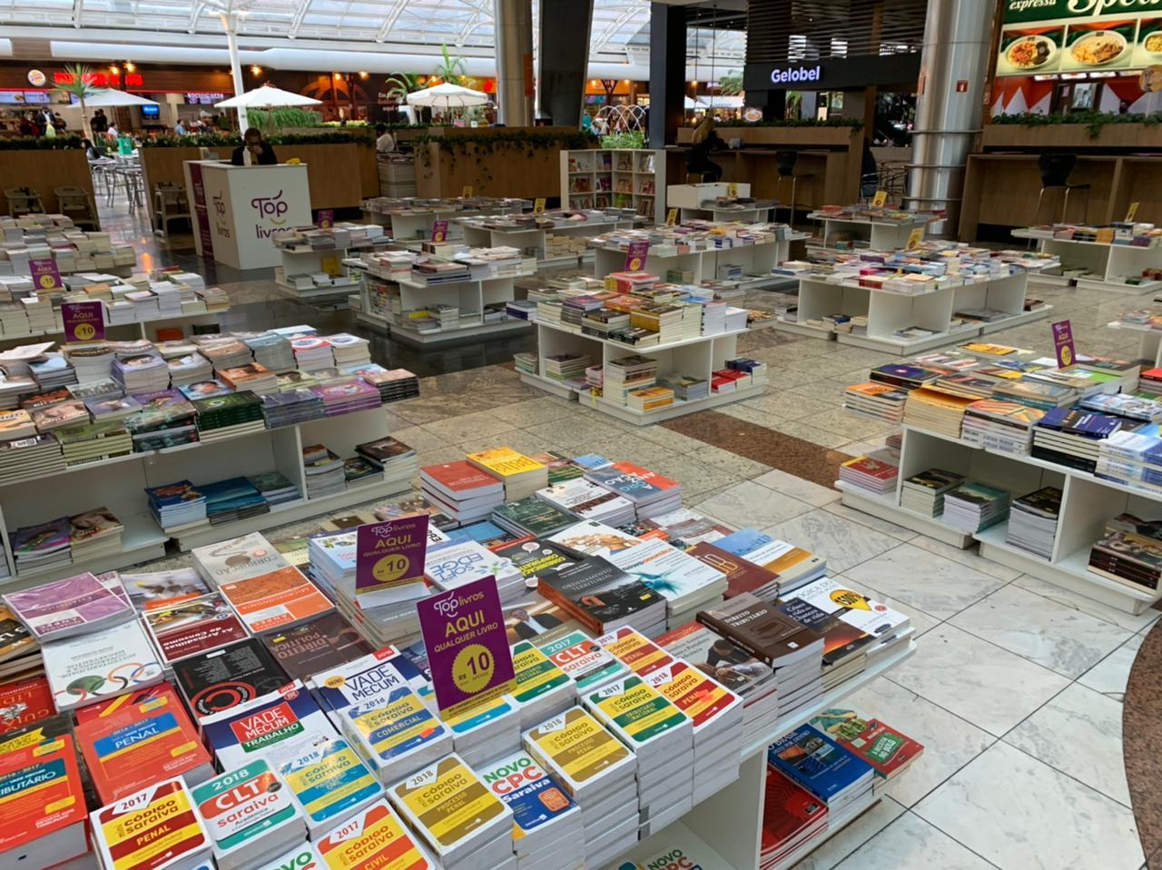 feira top livros shopping estação