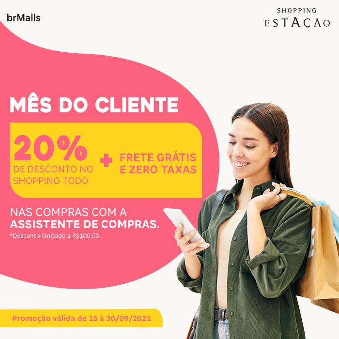 Shopping comemora o Mês do Cliente com descontos nas compras e entregas gratuitas
