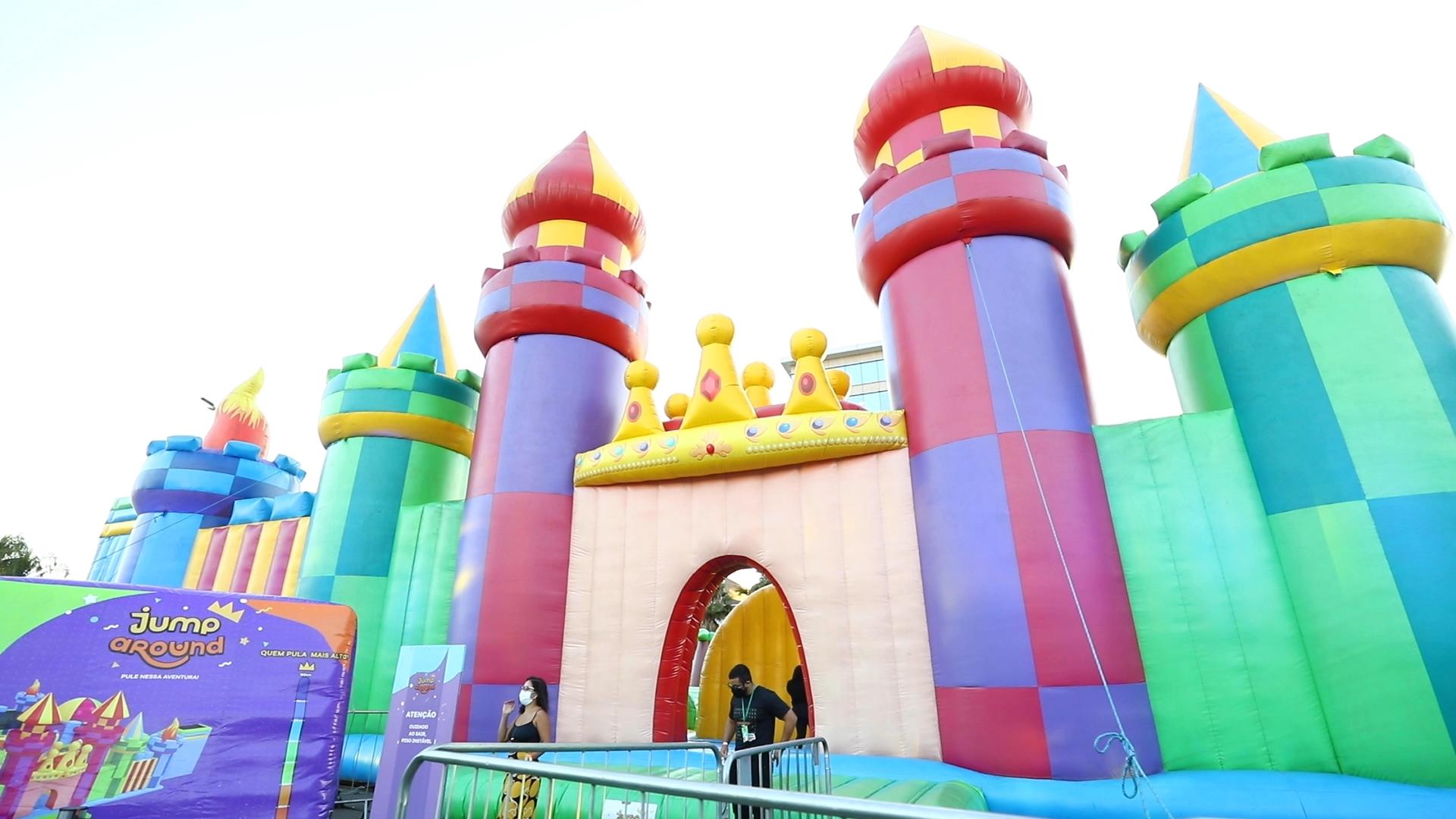 Jump Around: o maior castelo inflável da América Latina chega ao ParkShoppingBarigüi